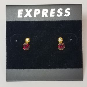 EXPRESS GOLD TONE EARRINGS SPARKLING  CRYSTALS